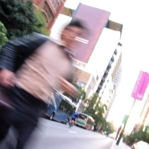 man running small